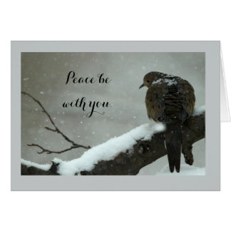 Mourning Dove Christmas Card