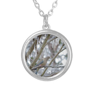 Mourning Dove Silver Plated Necklace