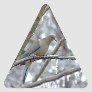 Mourning Dove Triangle Sticker