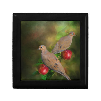 Mourning Doves on the Apple Tree - Painting Gift Box