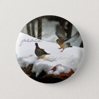 Mourning Doves Photo 2 Inch Round Button