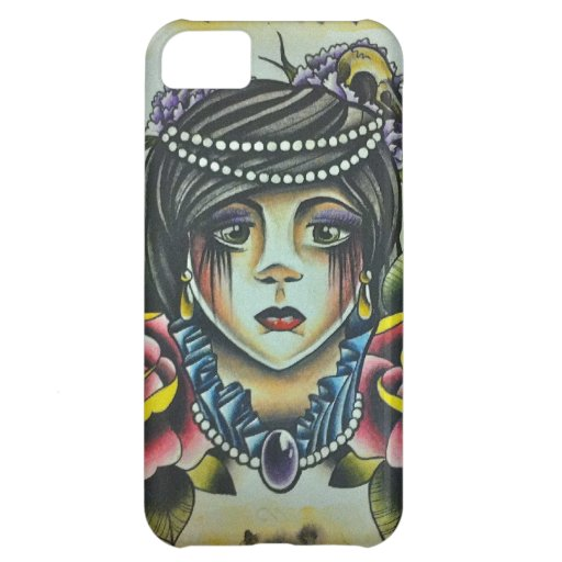 Mourning Lady Cover For iPhone 5C