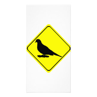 Mourning Love or Turtle Dove Caution Crossing Sign Photo Card Template