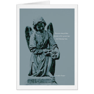 Mourning map angel greeting cards