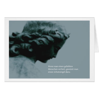 Mourning map angel greeting card