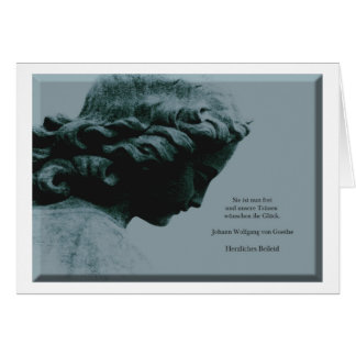 Mourning map angel with saying greeting card