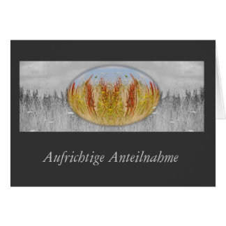 Mourning map autumn meadow grey card