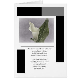 Mourning map Calla Greeting Card
