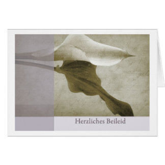 Mourning map Calla cordial condolence Greeting Card