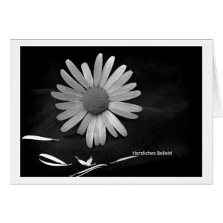Mourning map cordial condolence card