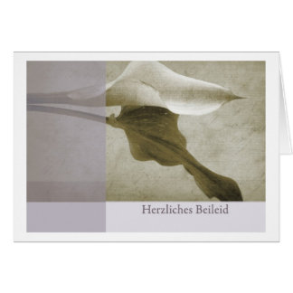 Mourning map cordial condolence greeting card