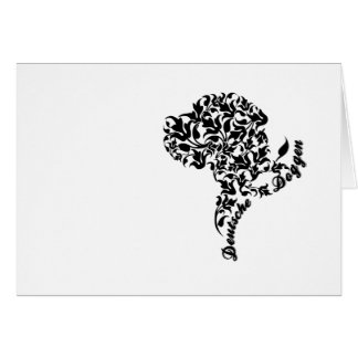 Mourning map Dogge Note Card
