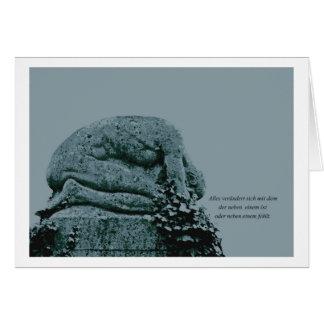 Mourning map gravestone greeting card