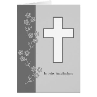 Mourning map greeting card