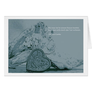 Mourning map heart greeting card