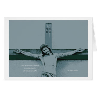 Mourning map Jesus at the cross Card