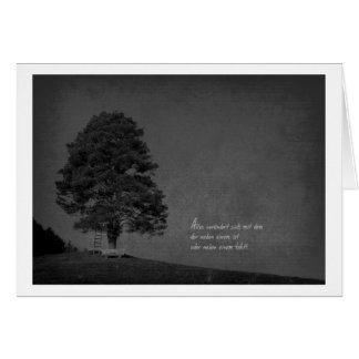 Mourning map old tree greeting cards