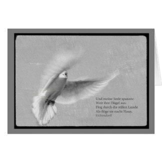 Mourning map pigeon with saying and my soul greeting cards