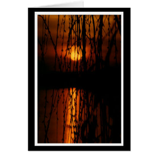Mourning pasture with sunset 1 map greeting cards