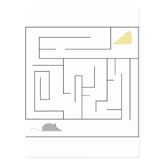Mouse and Cheese Maze Postcard