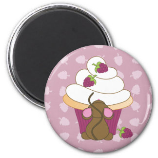 Mouse and Cupcake Magnet