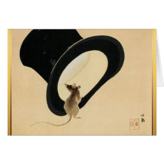Mouse and Top Hat Chinese New Year of Rat 2020 Card
