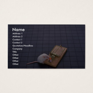 Mouse and trap business card