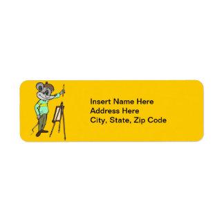 Mouse Artist Return Address Label