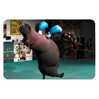 Mouse Beats Hippo KO Magnet