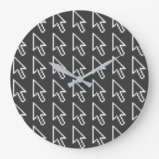 Mouse Cursor Arrow Graphic Large Clock