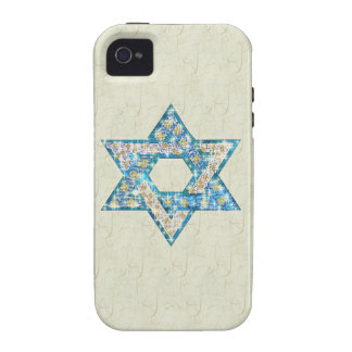Mouse-Drawn Gem Decorated Star Of David iPhone 4/4S Covers