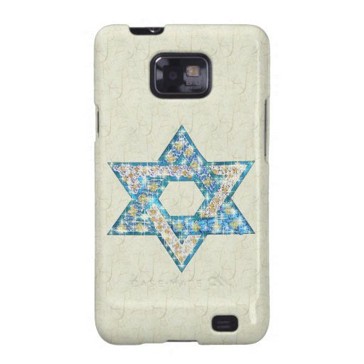 Mouse-Drawn Gem Decorated Star Of David Galaxy S2 Covers