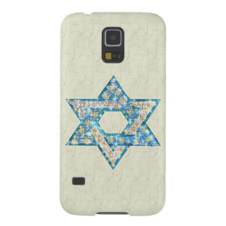 Mouse-Drawn Gem Decorated Star Of David Galaxy S5 Cover