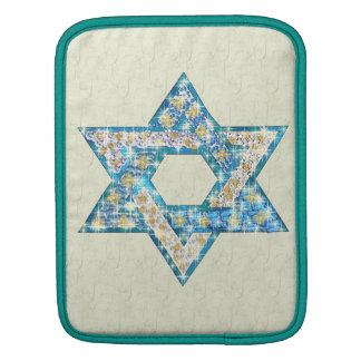 Mouse Drawn Gem Decorated Star Of David iPad Sleeve