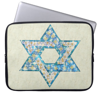 Mouse Drawn Gem Decorated Star Of David Laptop Sleeve
