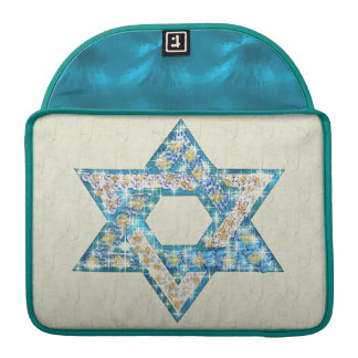 Mouse Drawn Gem Decorated Star Of David Sleeve For MacBooks