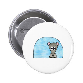 Mouse Driving a Car Pinback Button