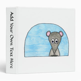 Mouse Driving a Car. Vinyl Binders