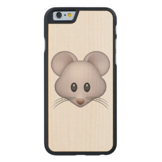 Mouse - Emoji Carved Maple iPhone 6 Case