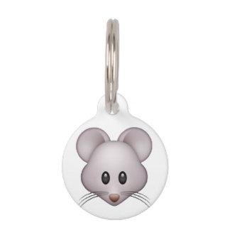 Mouse - Emoji Pet Name Tag