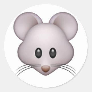 Mouse - Emoji Round Sticker