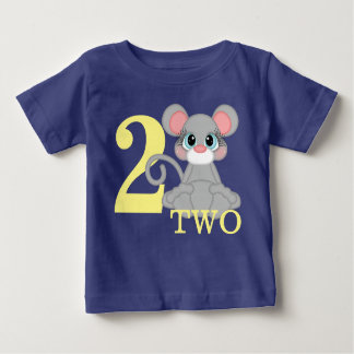 Mouse First Second Third Year Birthday Girl Boy Baby T-Shirt