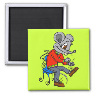 Mouse Getting Dressed Magnet
