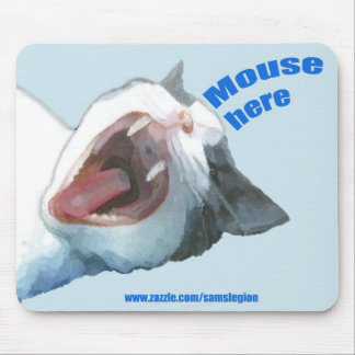 Mouse Here Mousepad Blue