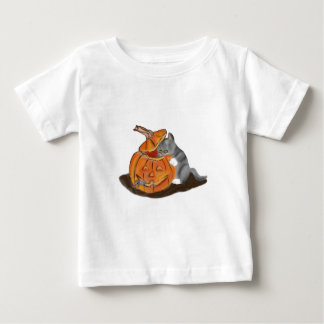 Mouse Hide and Seek in a Carved Pumpkin Shirt