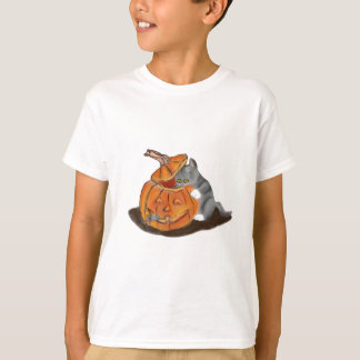 Mouse Hide and Seek in a Carved Pumpkin T-Shirt