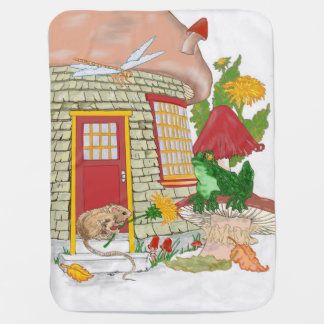 Mouse House Baby Blankets