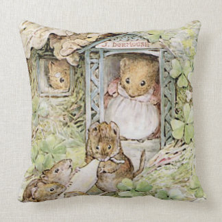 MOUSE HOUSE THROW PILLOW
