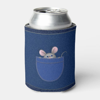 Mouse in Pocket Can Cooler