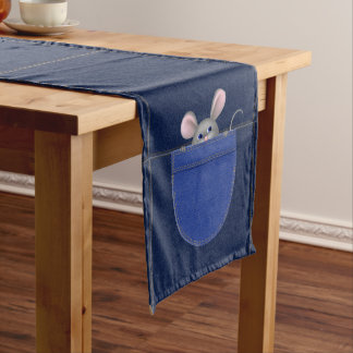 Mouse in Pocket Short Table Runner